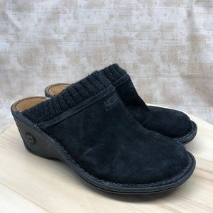 UGG SN1934 Womens Black Slip on Mules Size 8 AI2